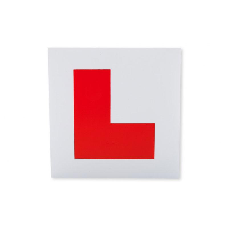 L-merke øvelseskjørningsskilt magnet