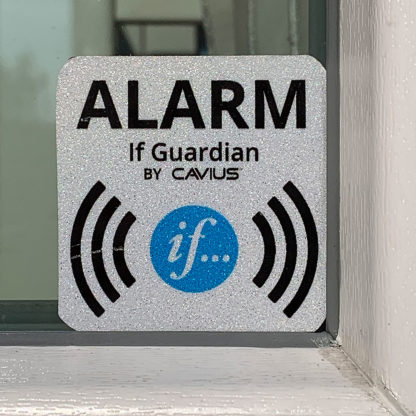 If Guardian - Alarm klistremerke i vindu
